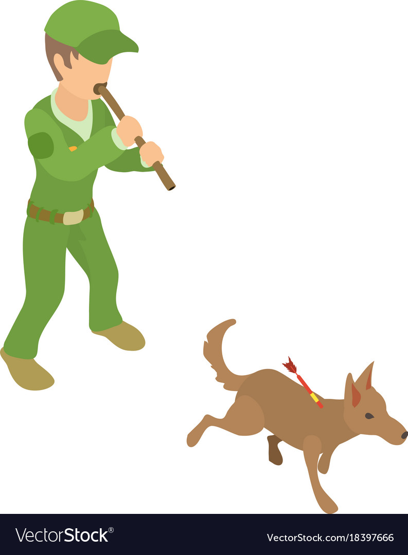 Work icon isometric d. Catcher clipart dog banner royalty free