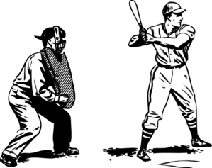 And batter clip art. Catcher clipart umpire vector royalty free library