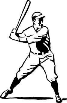 Catcher clipart baseball pitcher. Umpire batter batting free