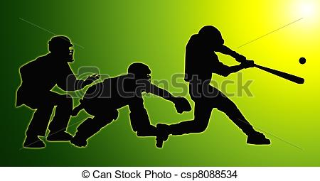 Green back home base. Catcher clipart umpire image royalty free stock