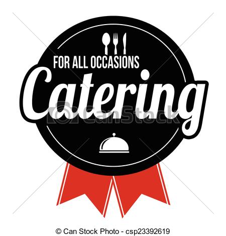 Catering clipart. Label or sign on png download