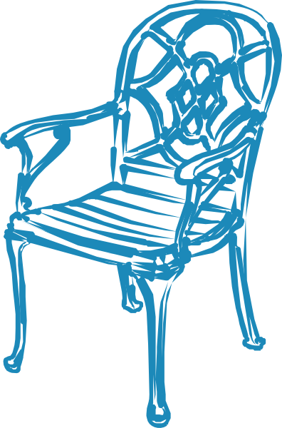 Catering clipart. Blue chair