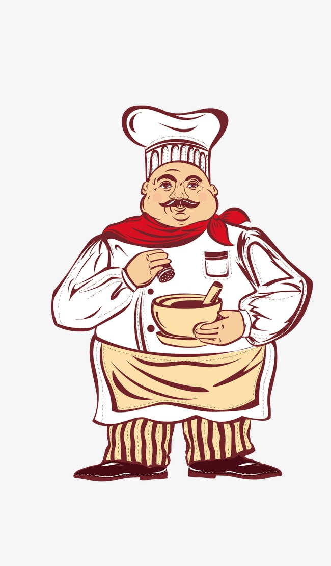Chef creative cartoon png. Catering clipart cook chinese jpg free
