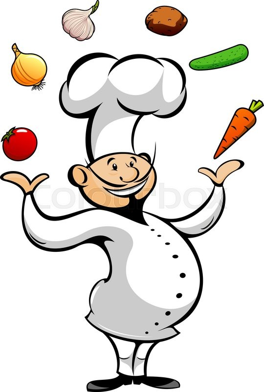 Catering clipart cook chinese. Happy smiling cartoon chef picture black and white