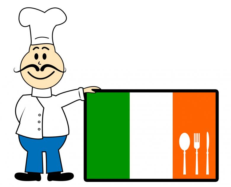 Catering clipart cooker. Chef ireland shows cooking