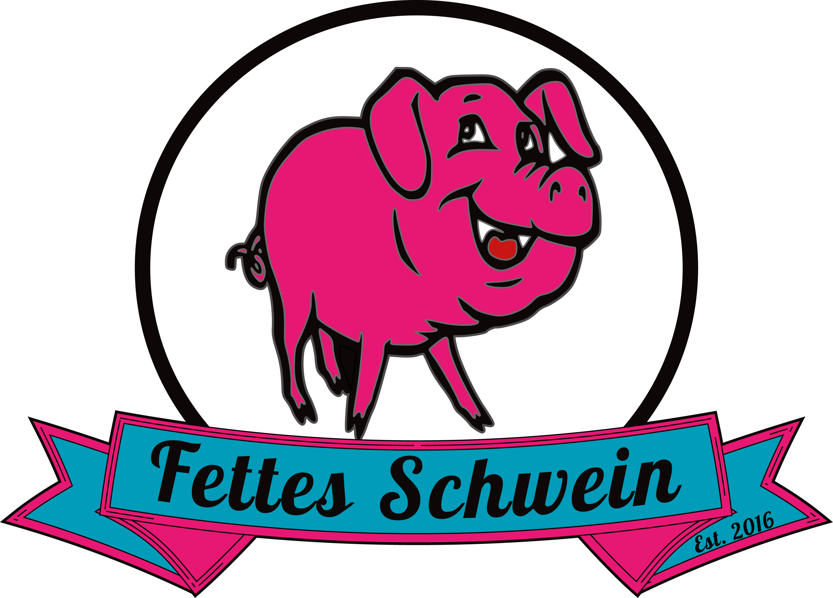 Catering clipart food served. Fettes schwein truck in