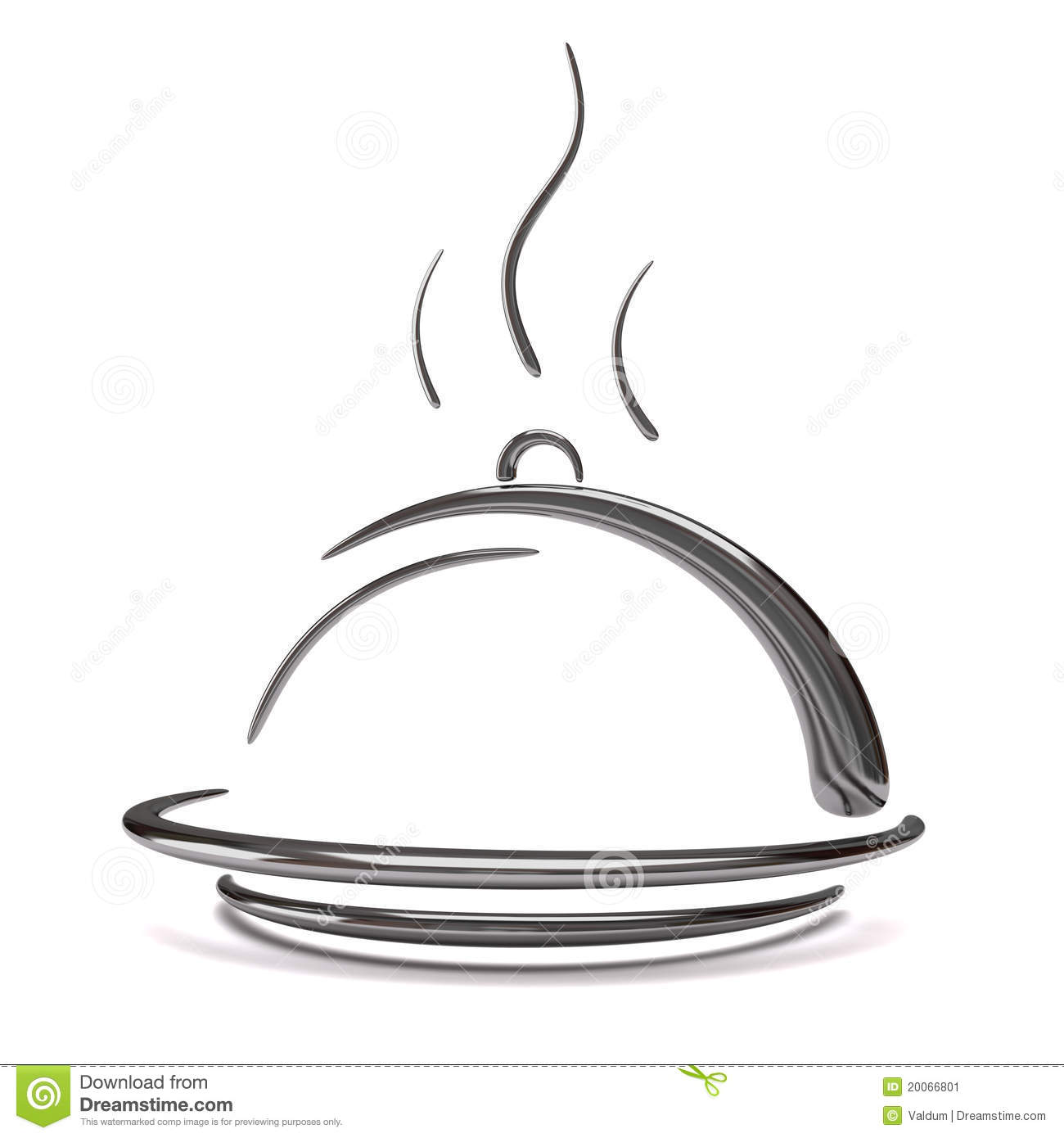 Catering clipart food served.  d silver tray svg black and white