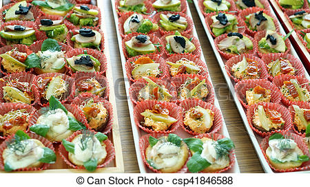 Finger serve in tray. Catering clipart food served jpg download