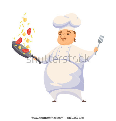 Catering clipart hotel cook. Chef cooking pasta sauce clip freeuse stock