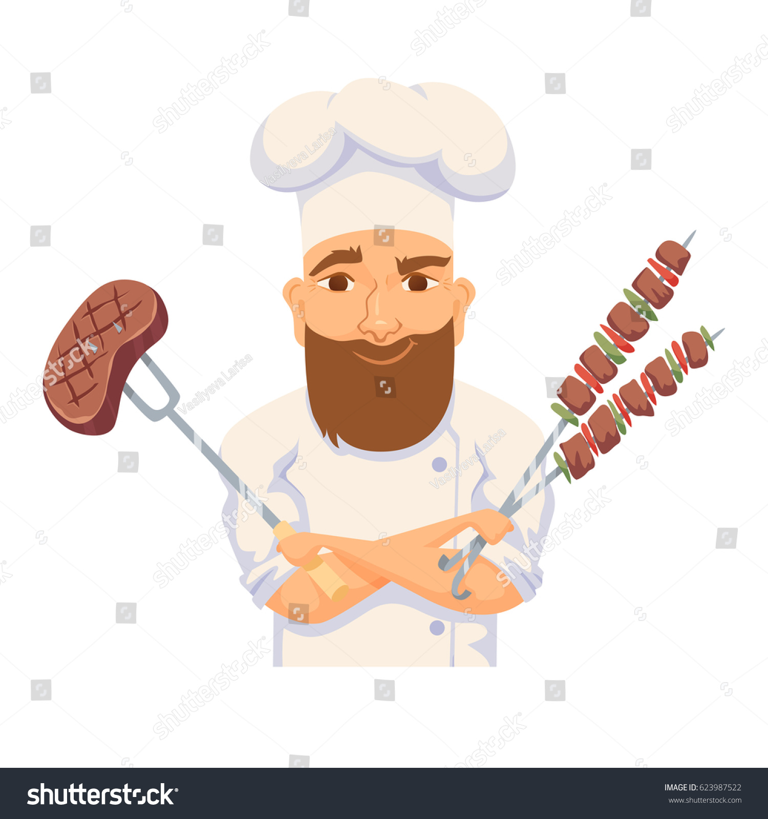 Chef cooking bbq restaurant. Catering clipart hotel cook graphic freeuse download