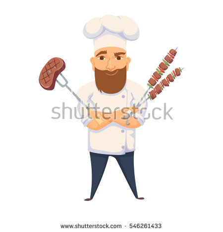 Catering clipart hotel cook. Chef cooking bbq restaurant jpg royalty free library