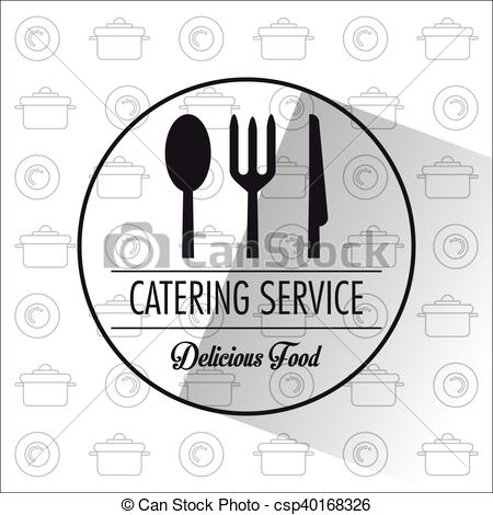 Catering clipart knife fork. Service restaurant and menu clip art stock