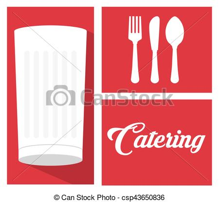 Food service milk cup. Catering clipart knife fork jpg black and white library