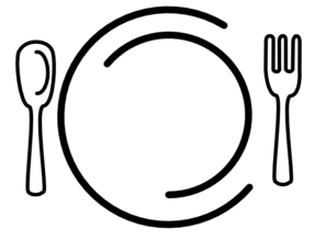 Catering clipart. Knife and fork white