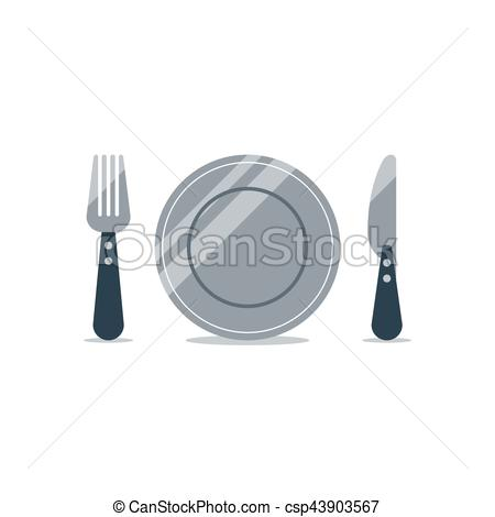 Logo and items icons. Catering clipart knife fork picture stock