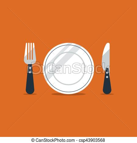Logo and items icons. Catering clipart knife fork banner royalty free