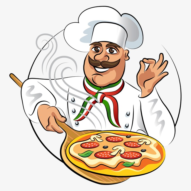 Png vectors psd and. Catering clipart pizza chef clip art royalty free stock