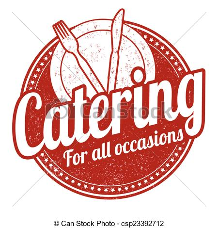 Catering clipart. Stamp grunge rubber on graphic black and white library