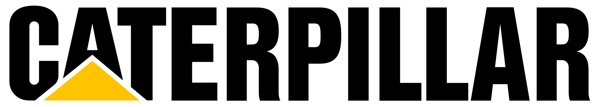 caterpillar black png logo