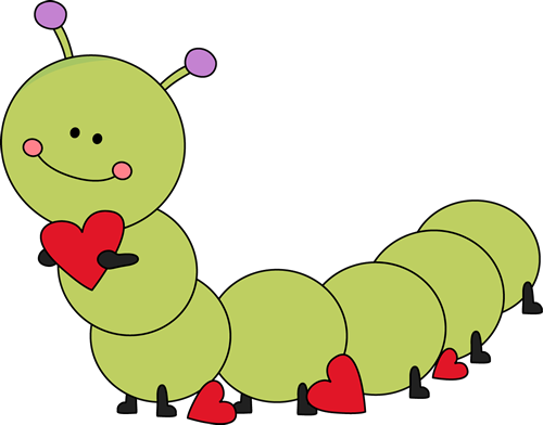 Caterpillar clipart. Cute valentine s day