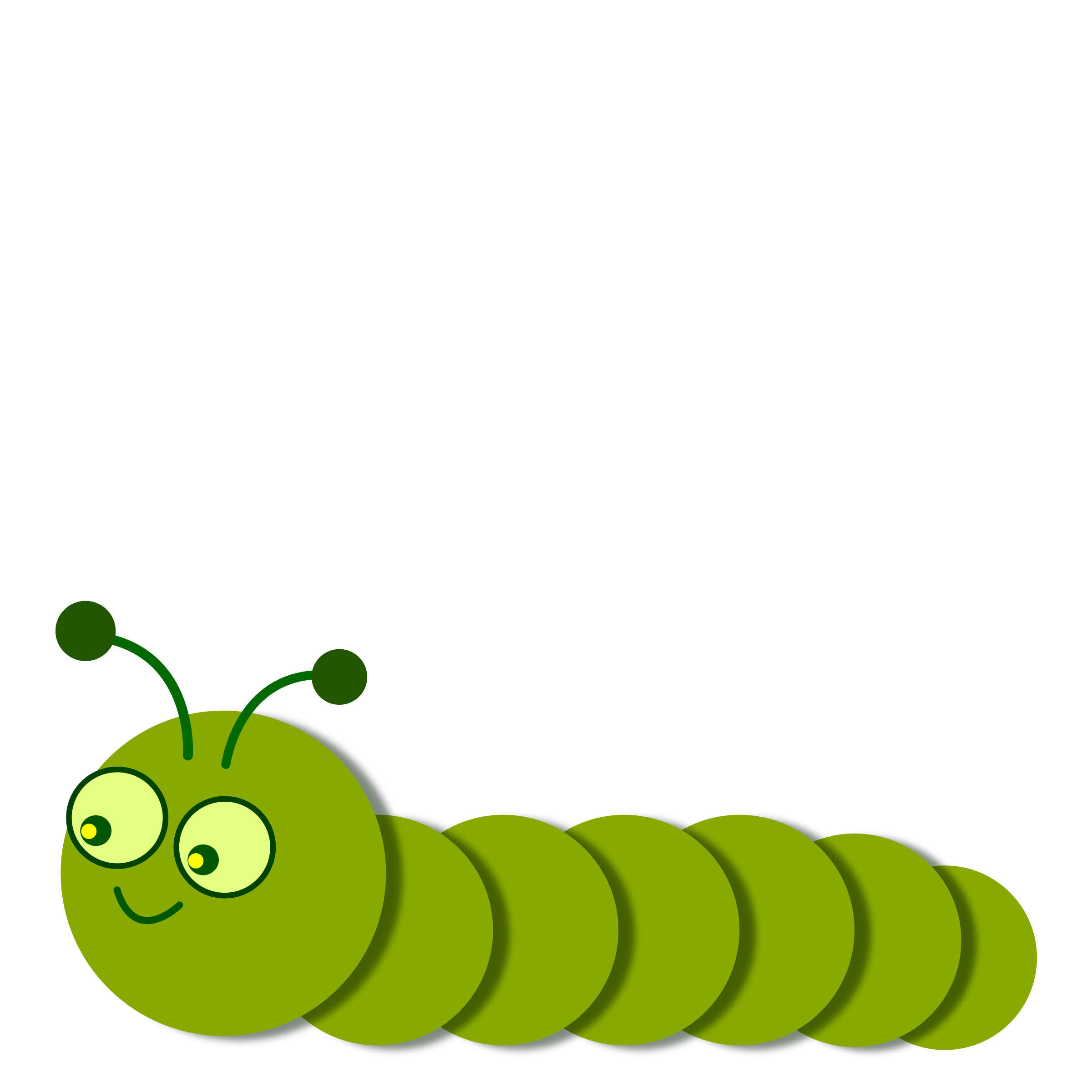 Caterpillar clipart png. Smiling legless linear icons