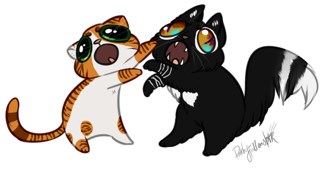 Catfighting clip art. Catfight by patchyfallenstar on graphic royalty free stock