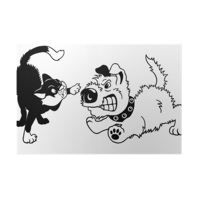 Catfighting clip dog. And cat fighting black