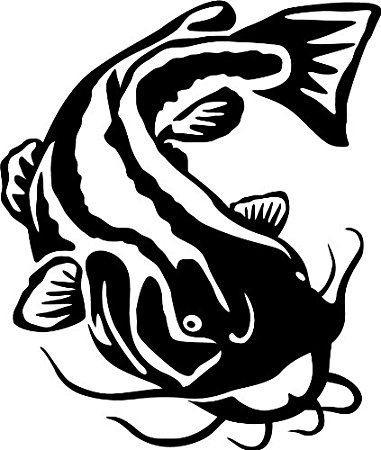 Catfish clipart black and white. Line drawing at getdrawings
