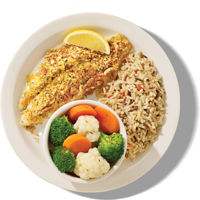 Catfish with rice png. Entrees under calories at