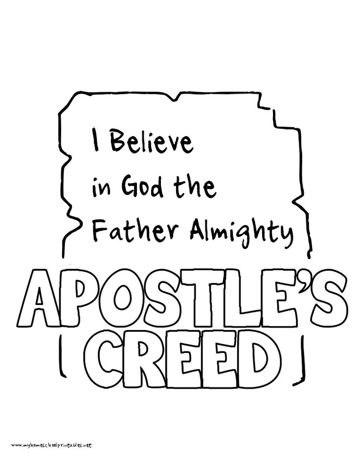 Catholic clipart apostles creed. Lefts above the fray
