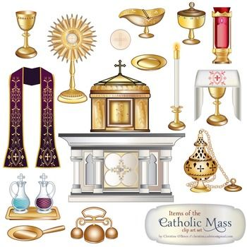 Catholic clipart catholic altar. Mass items clip art