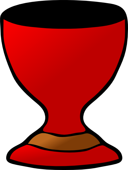 Catholic drawing communion cup. Clipart