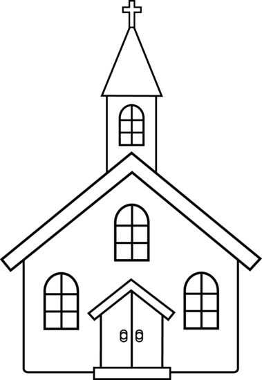 Catholic drawing congregation. Collection of free curch