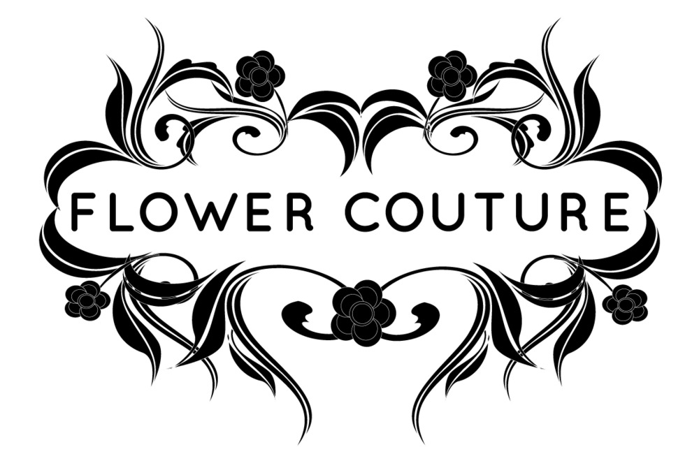 Drawing roads flower. Couture boutique weddings events