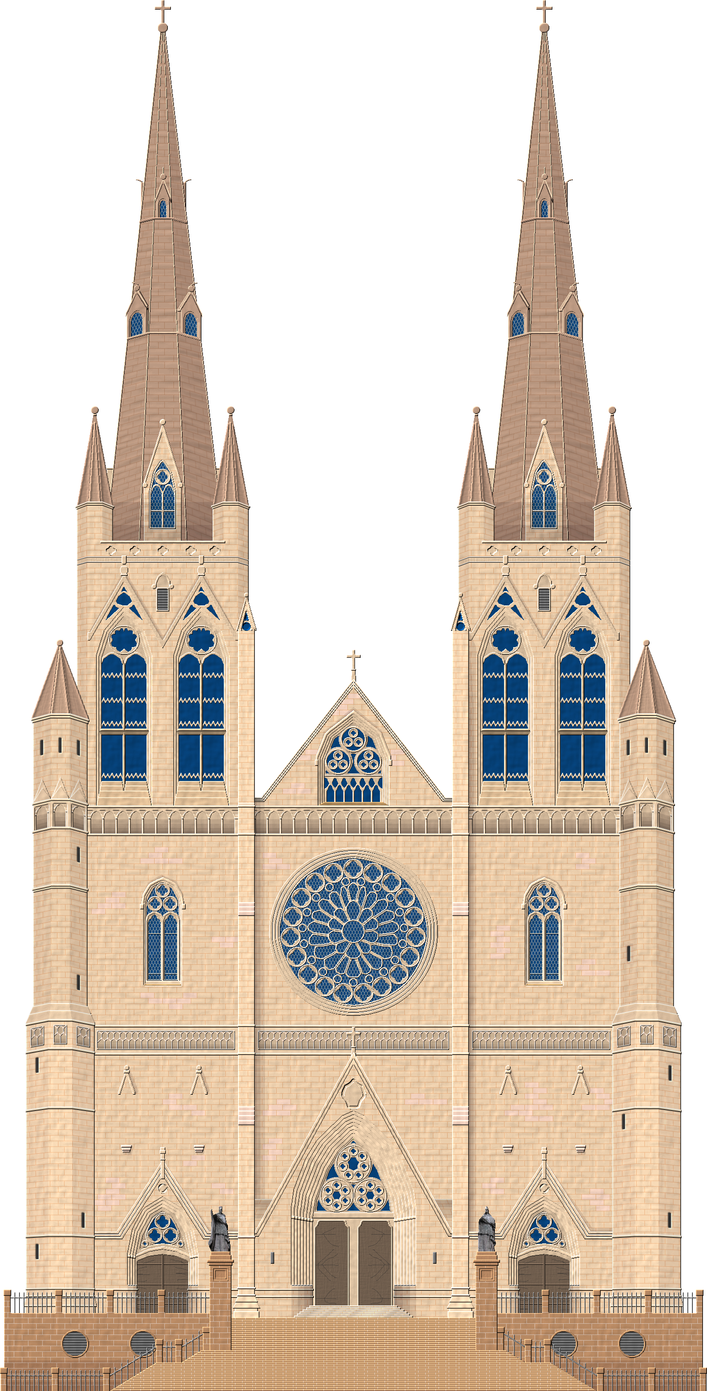 Catholic drawing gothic church. Sydney cathedral by herbertrocha