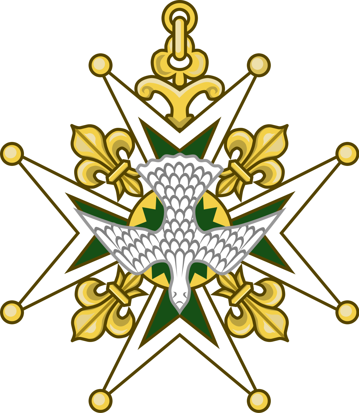 Royal drawing cross. Order of the holy