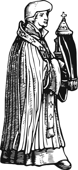 Monkas clipart roman catholic priest. Medieval with sacrament clip