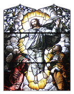 Catholic drawing stained glass. Cathedral of st peter