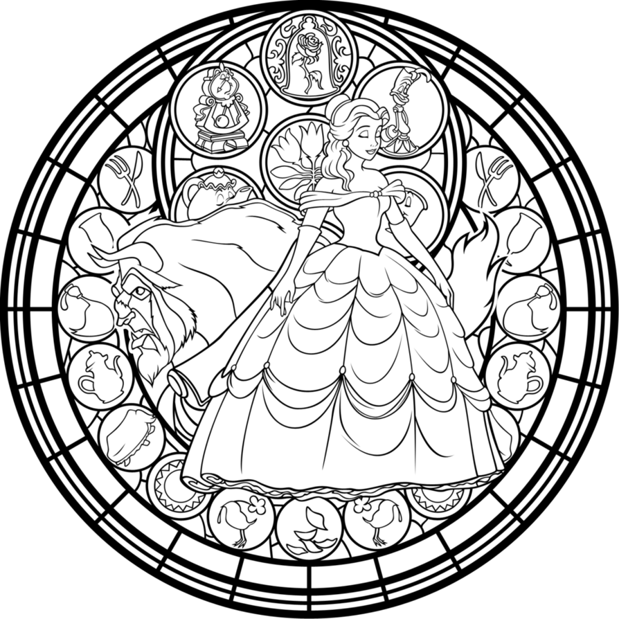 Catholic drawing stained glass. With coloring pages