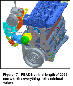 Catia drawing engine part. Variation analysis case study