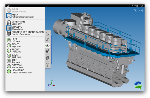 Catia drawing shading. Iges cad exchanger support