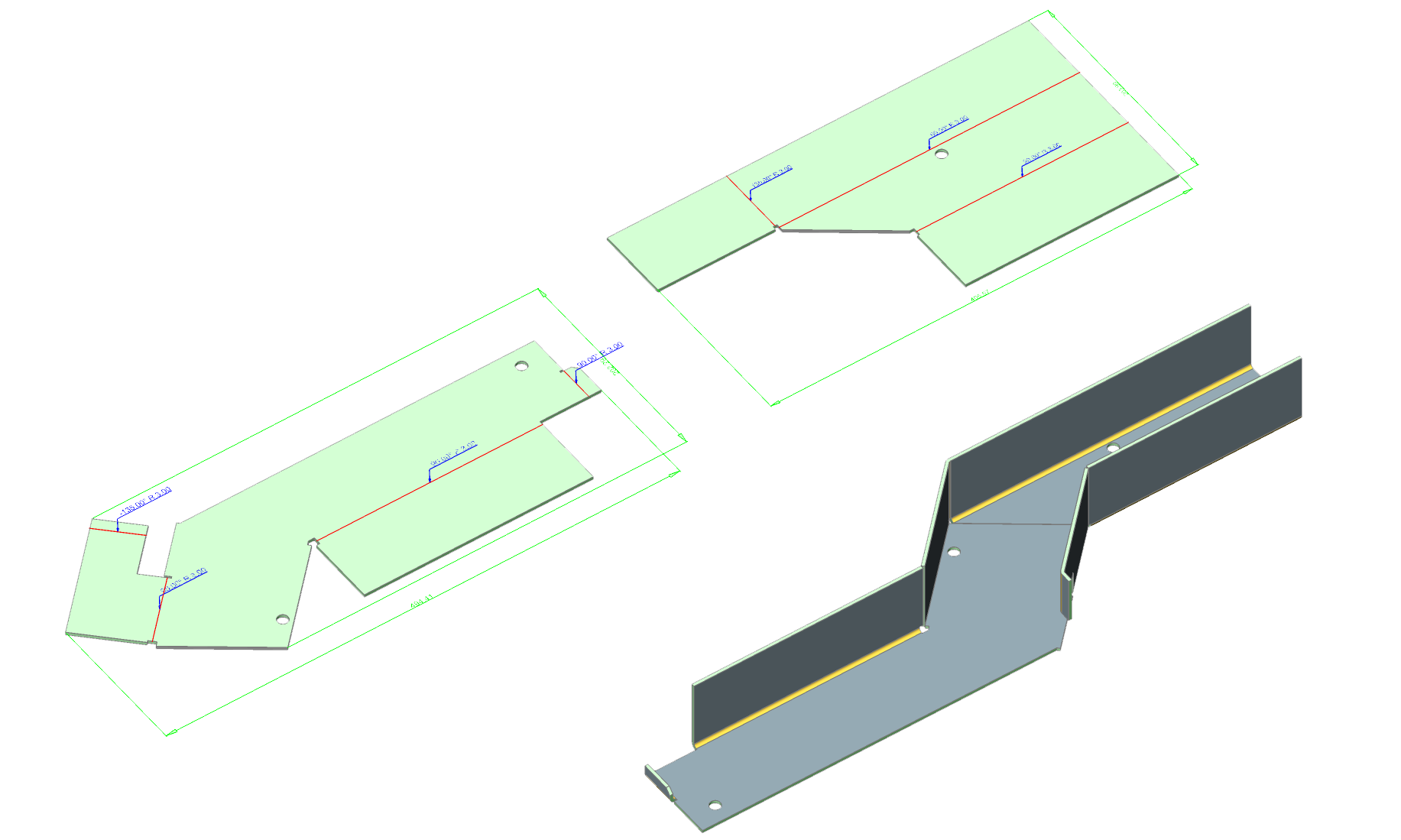 auxiliary drawing sheet metal manufacturing