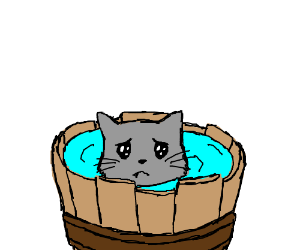 Cats clipart water. Bath time for kitty