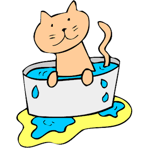 Cats clipart water. Cat in cliparts of