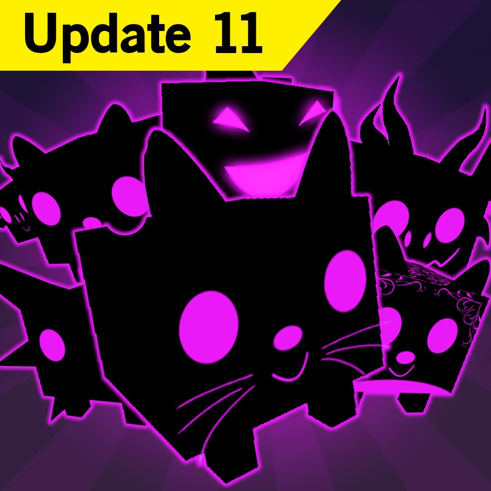 Cats playing with dark matter. Roblox pet simulator dominus
