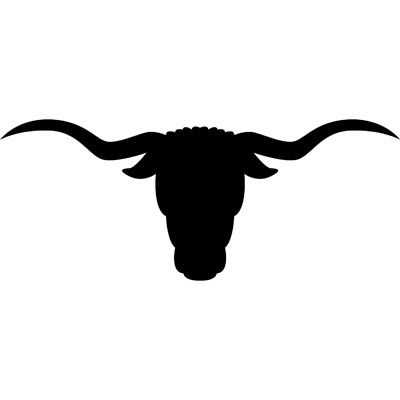 Cattle clipart cow horn. Longhorn steer silhouette at