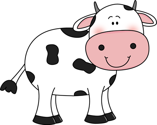 Cattle clipart cow tail. With black spots will
