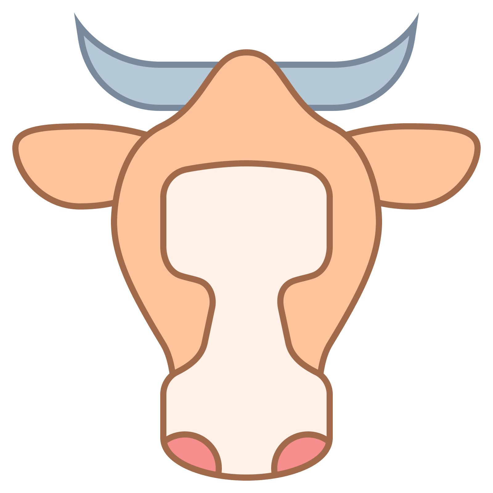 Beef vector caw. Cow png icon