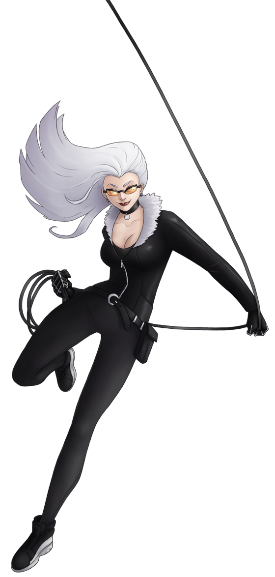 Catwoman transparent black cat marvel. By green mamba