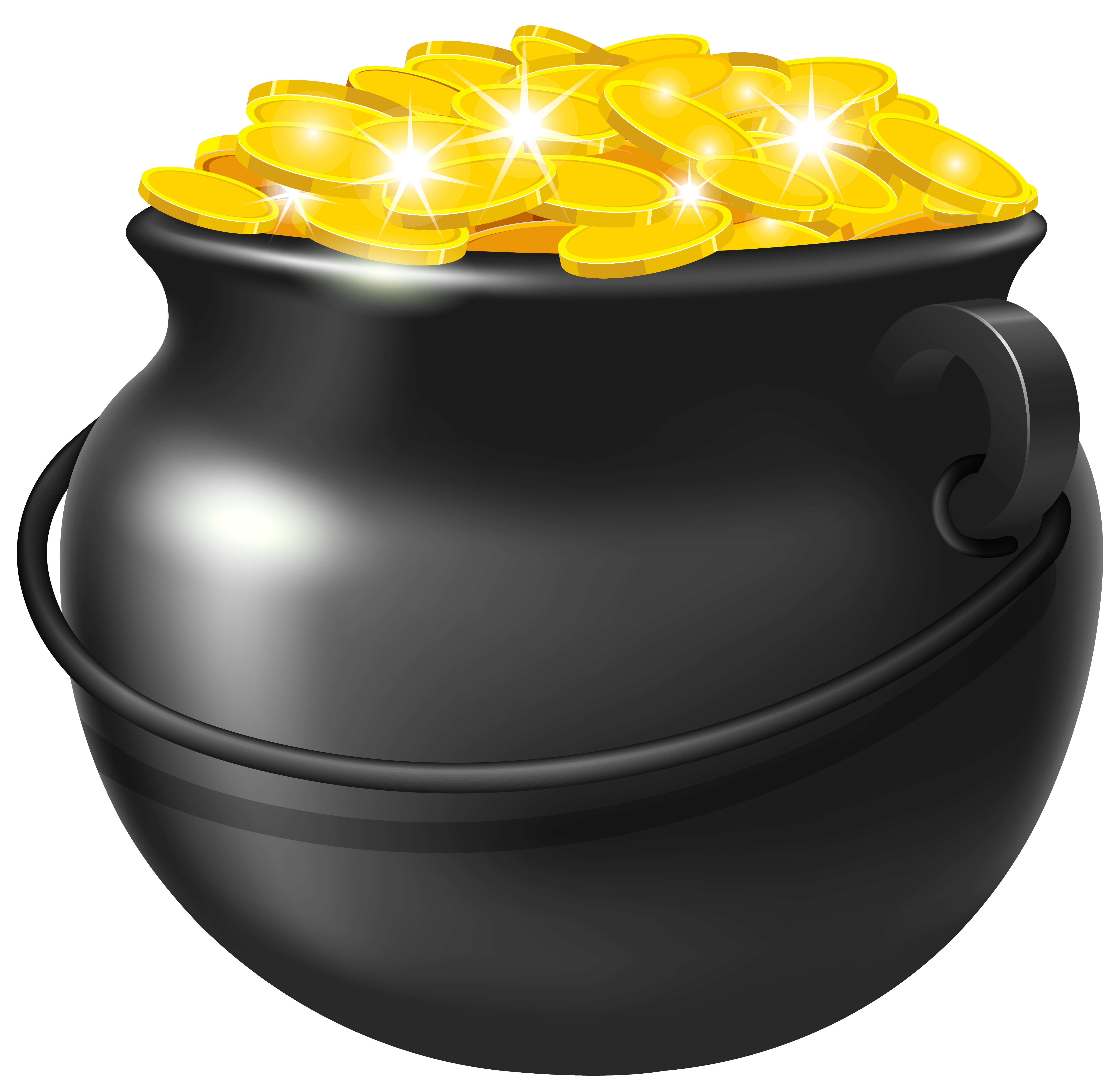 pot of gold rainbow png